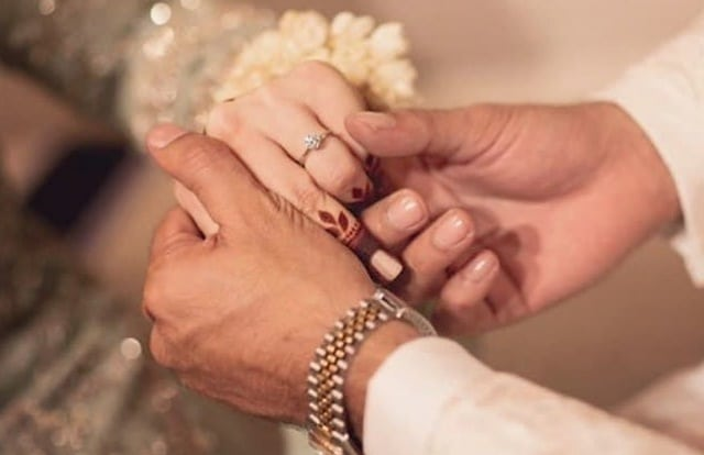 Minal Khan Engagement Ring